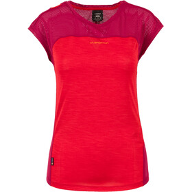 La Sportiva Traction Maglietta a maniche corte Donna rosso/viola